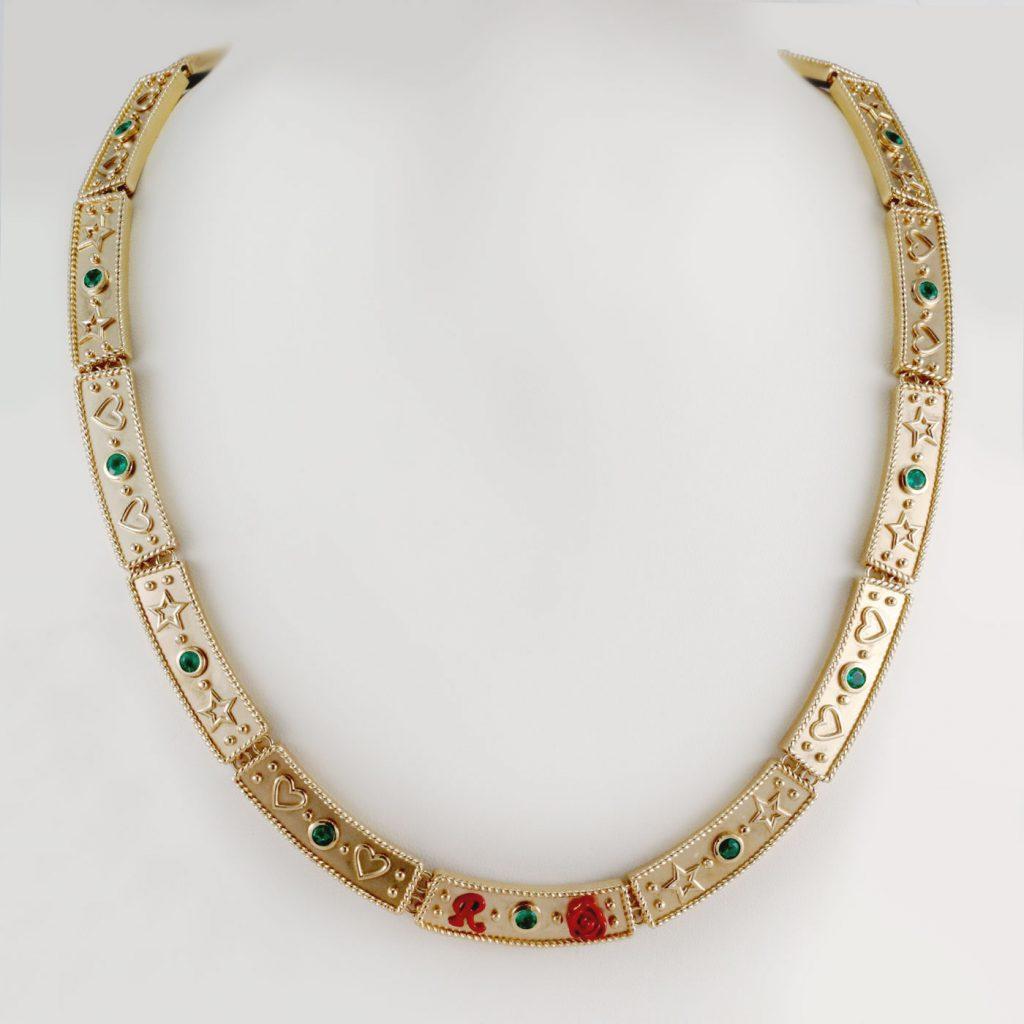 Emerald ploscice ogrlica 1