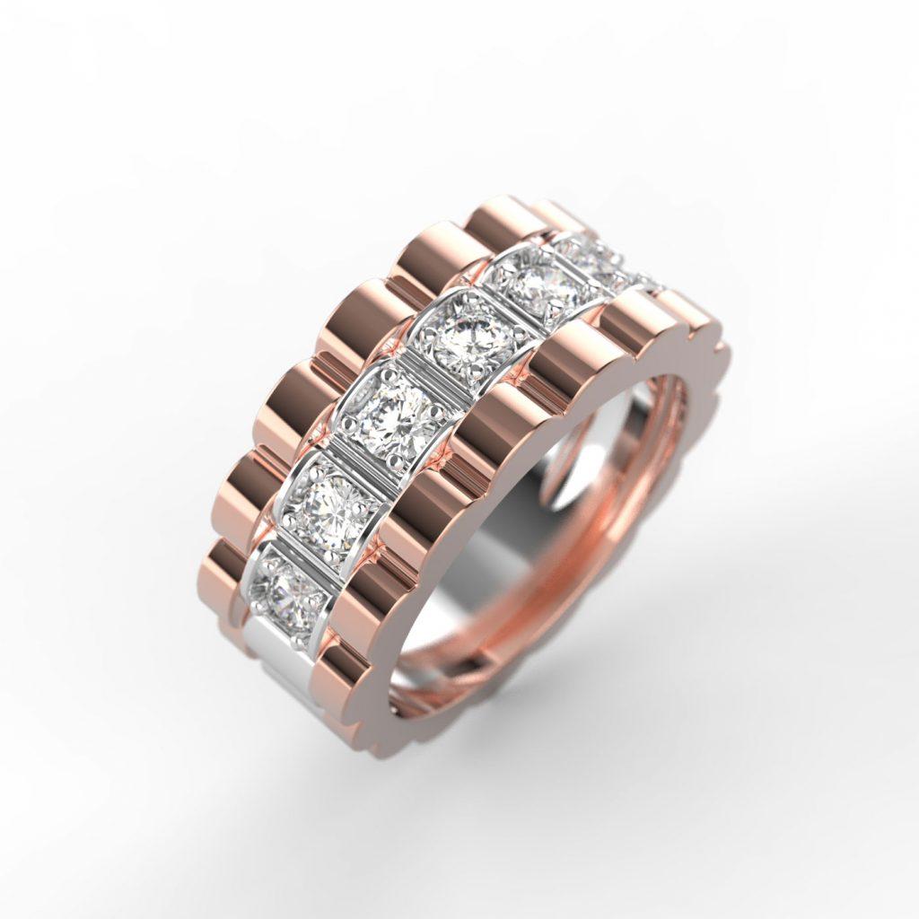 Moski prstan z diamanti